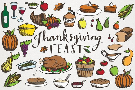 Thanksgiving Feast Clipart.