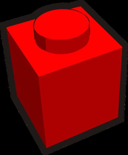 1x1 kid\'s brick element red vector image.