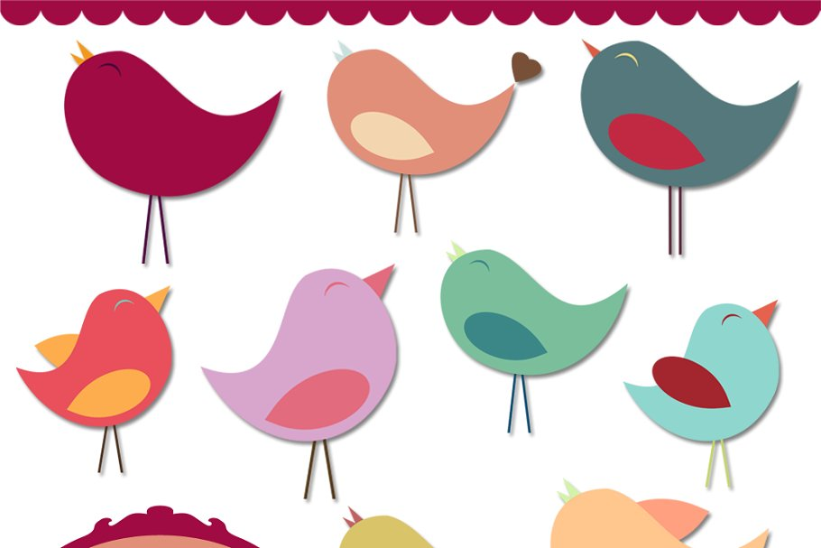 Bird Vectors and Clipart ~ Illustrations ~ Creative Market.
