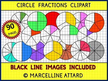 CIRCLE FRACTIONS CLIPART (GEOMETRY CLIP ART).