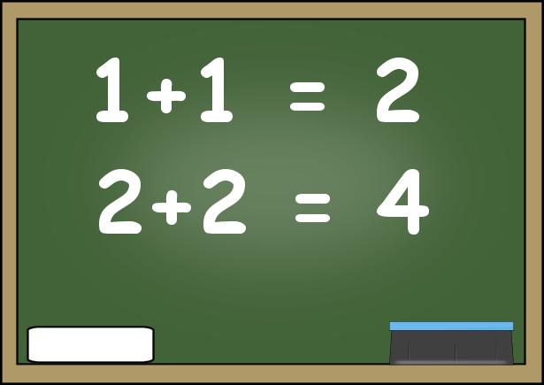 Math on chalkboard clipart.