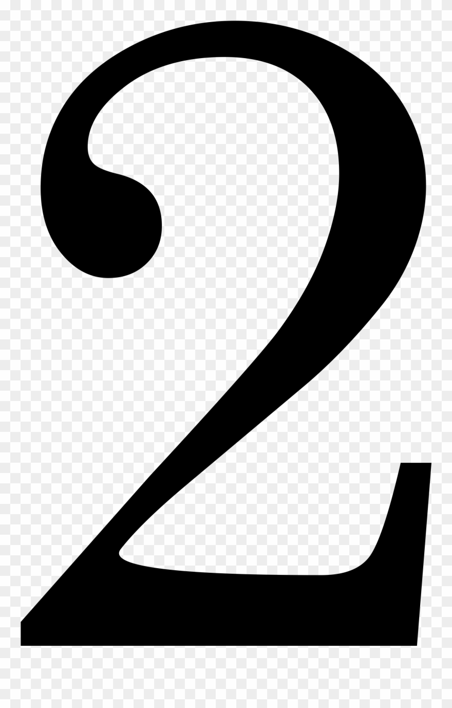 Number 2 Clipart Different Font.