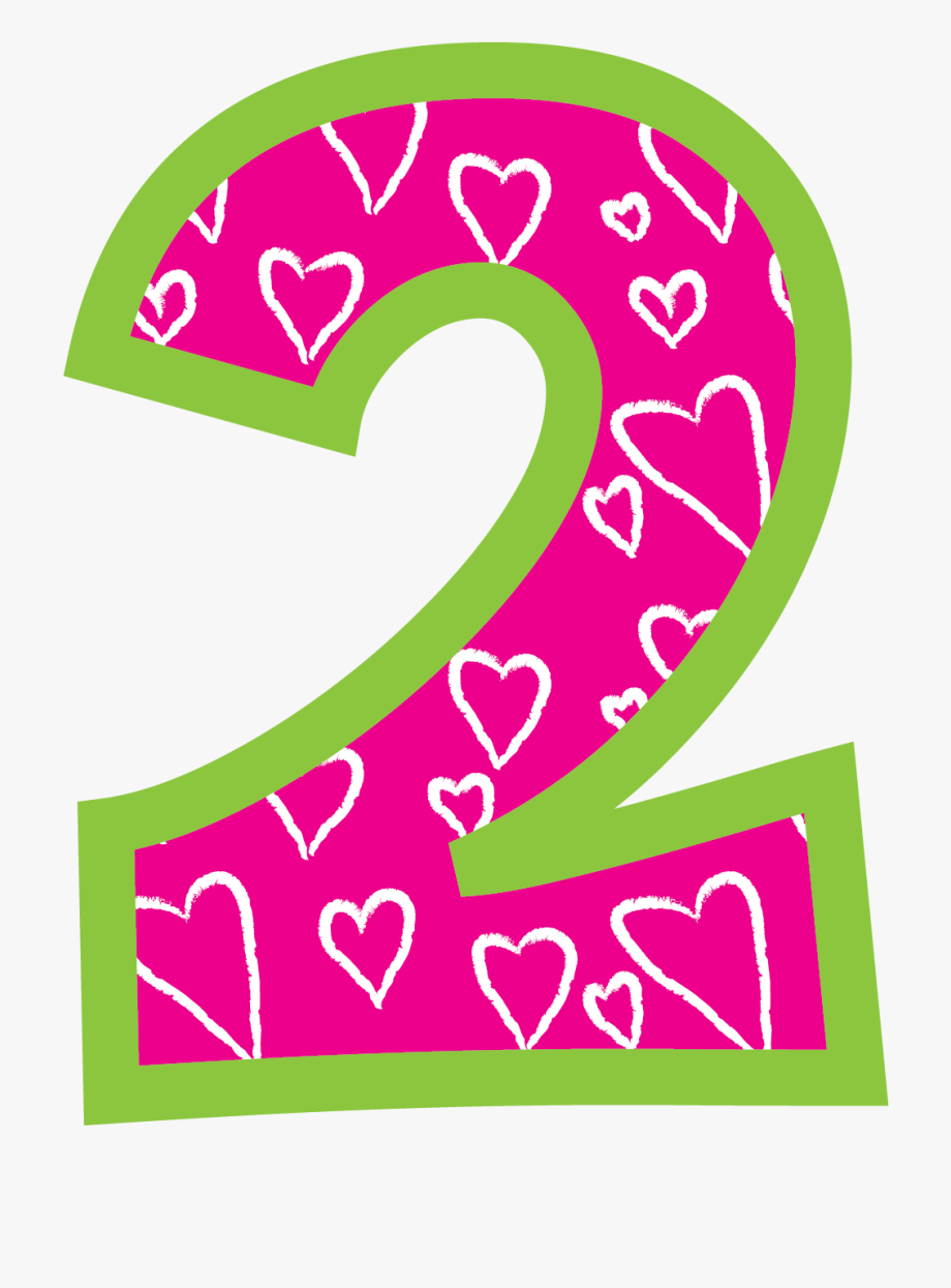 Pink Chevron Dot Number 1 Clipart.