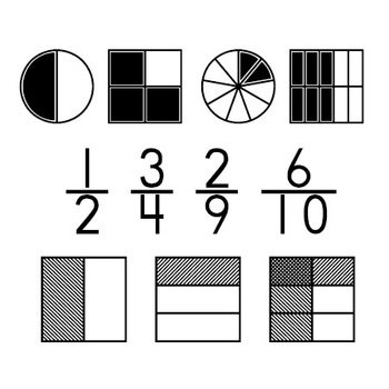 1, 2, 3 Math Clip Art.