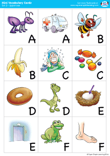 Free Flashcards from Super Simple Learning.