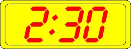 Digital Clock 2:30 clip art Clipart Graphic.