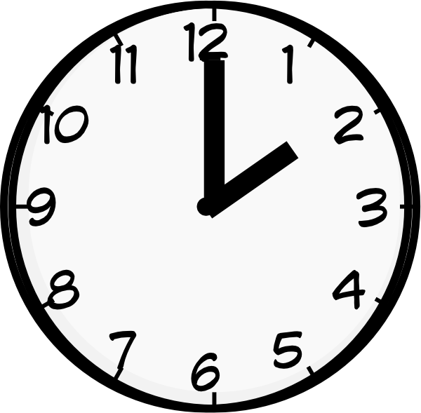 2 O Clock Clip Art at Clker.com.