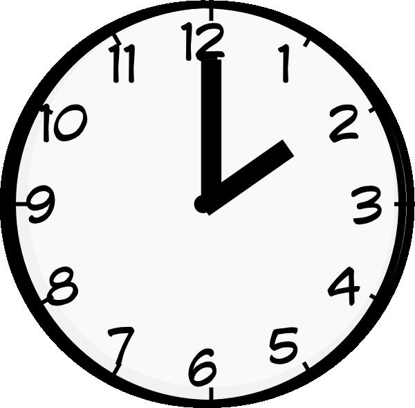 2 O Clock Clip Art at Clker.com.