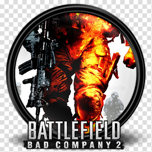 Games , Battlefield Bad Company icon transparent background.