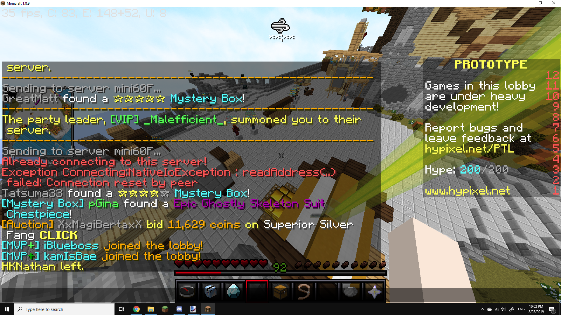 I want to join skyblock.