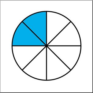 Clip Art: Circle08 Color 2/8 I abcteach.com.