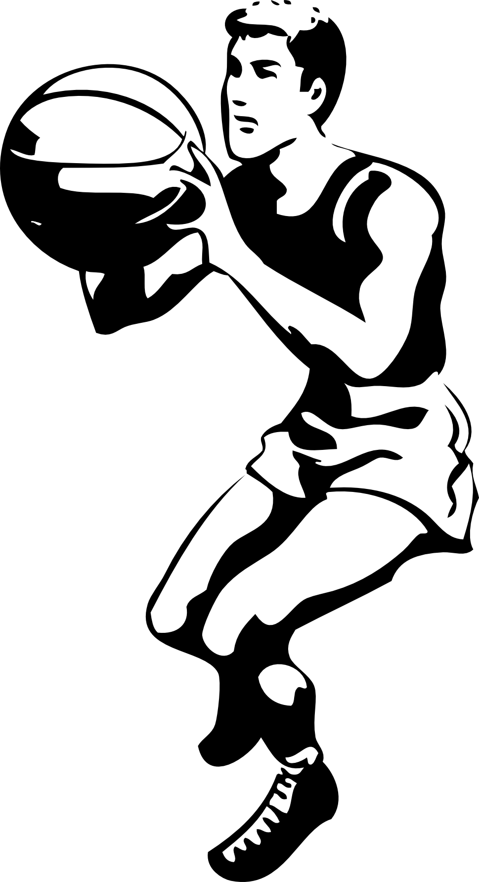 Basketball Clipart Black And White Widescreen 2 HD.