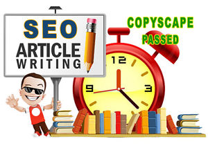 Get 2 Articles 400 Words, Copyscape Passed & SEO Friendly.