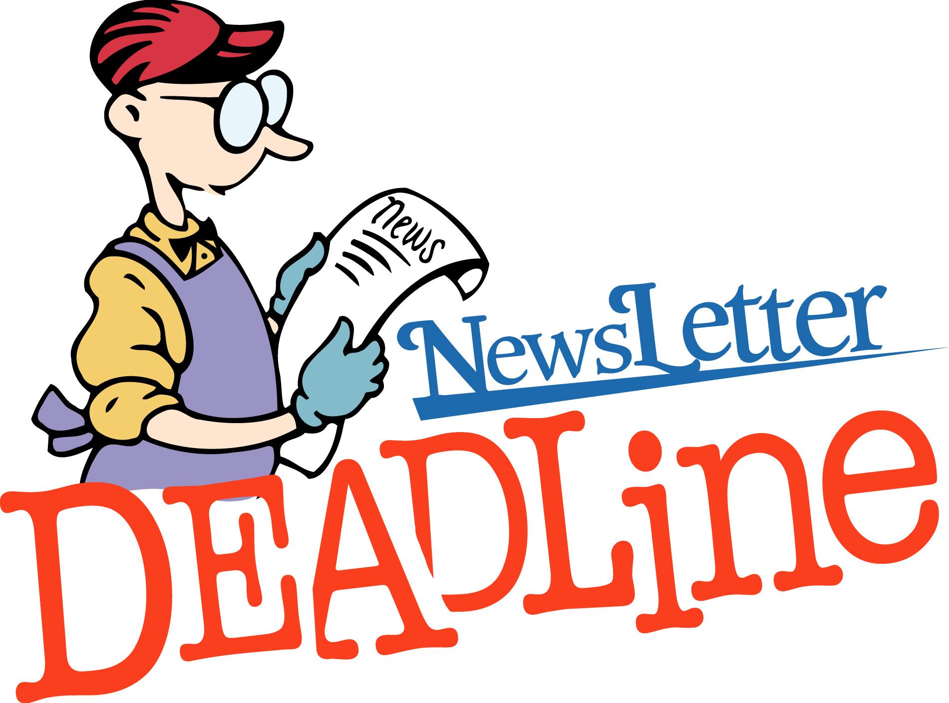 Newsletter deadline clipart clipartfest 2.