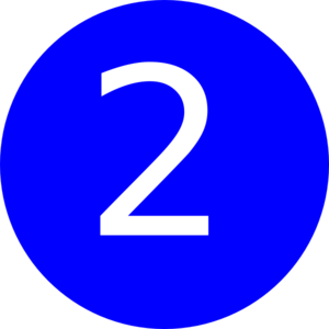 Blue Number 2 Clipart.