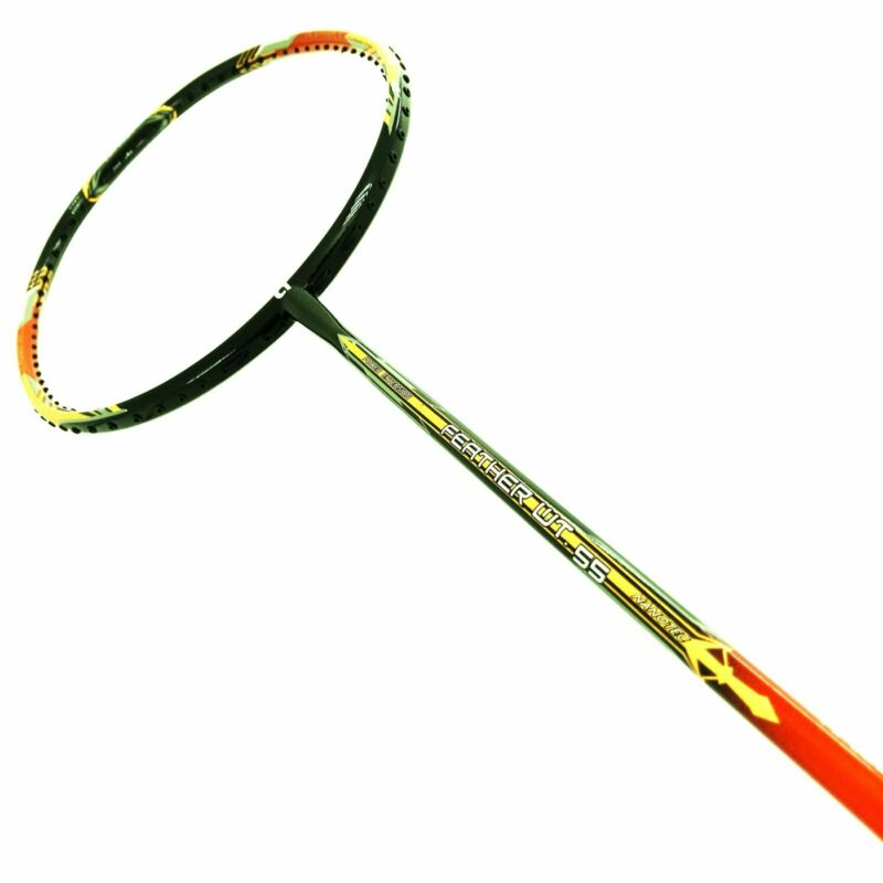 Details about 2 X APACS FEATHER WEIGHT 55 Orange Glow Badminton Racket Free  String and Grip.