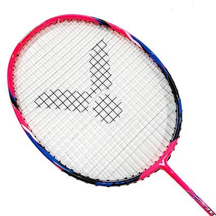Victor Jetspeed S 011 Badminton Racket (Rose Red)(4UG5)(Strung @24LB).