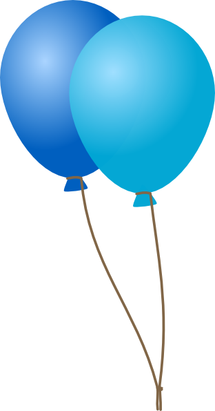 Blue balloons clipart 2 » Clipart Station.