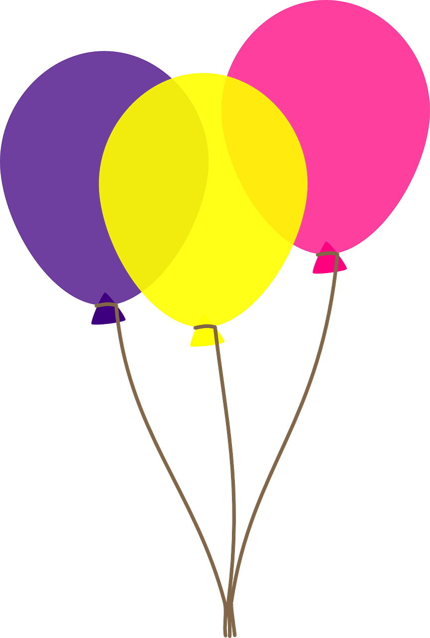 Balloons clip art transparent background free 2.