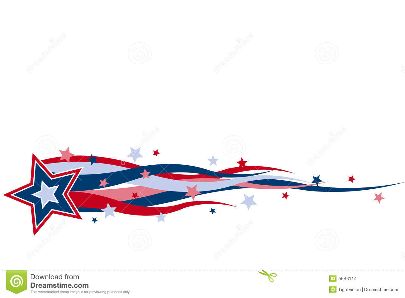 Red white blue banner clipart 2 » Clipart Station.