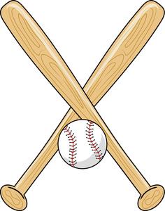 Crossed baseball bat clipart 2 » Clipart Station.