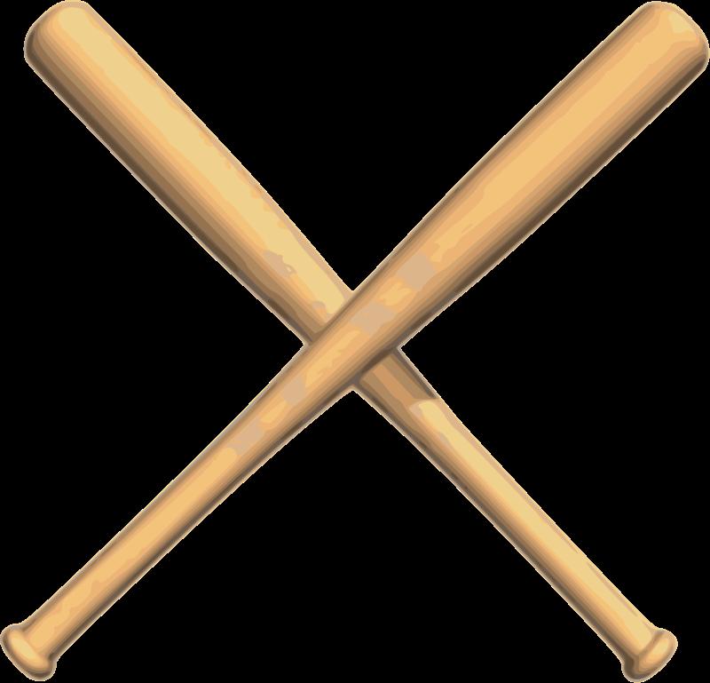 1523 Baseball Bat free clipart.