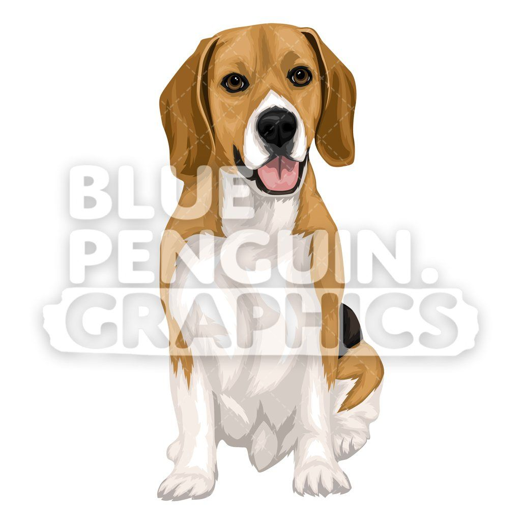 Beagle Dog version 9 Vector Cartoon Clipart Illustration in.