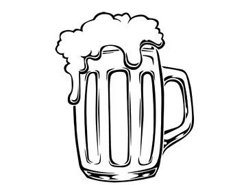 Beer glass clipart black and white 2 » Clipart Station.