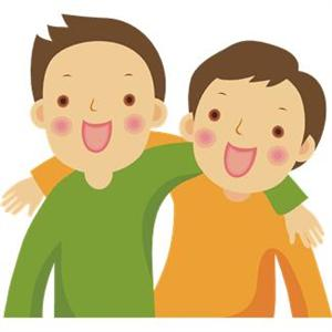 Two Best Friends Clipart.