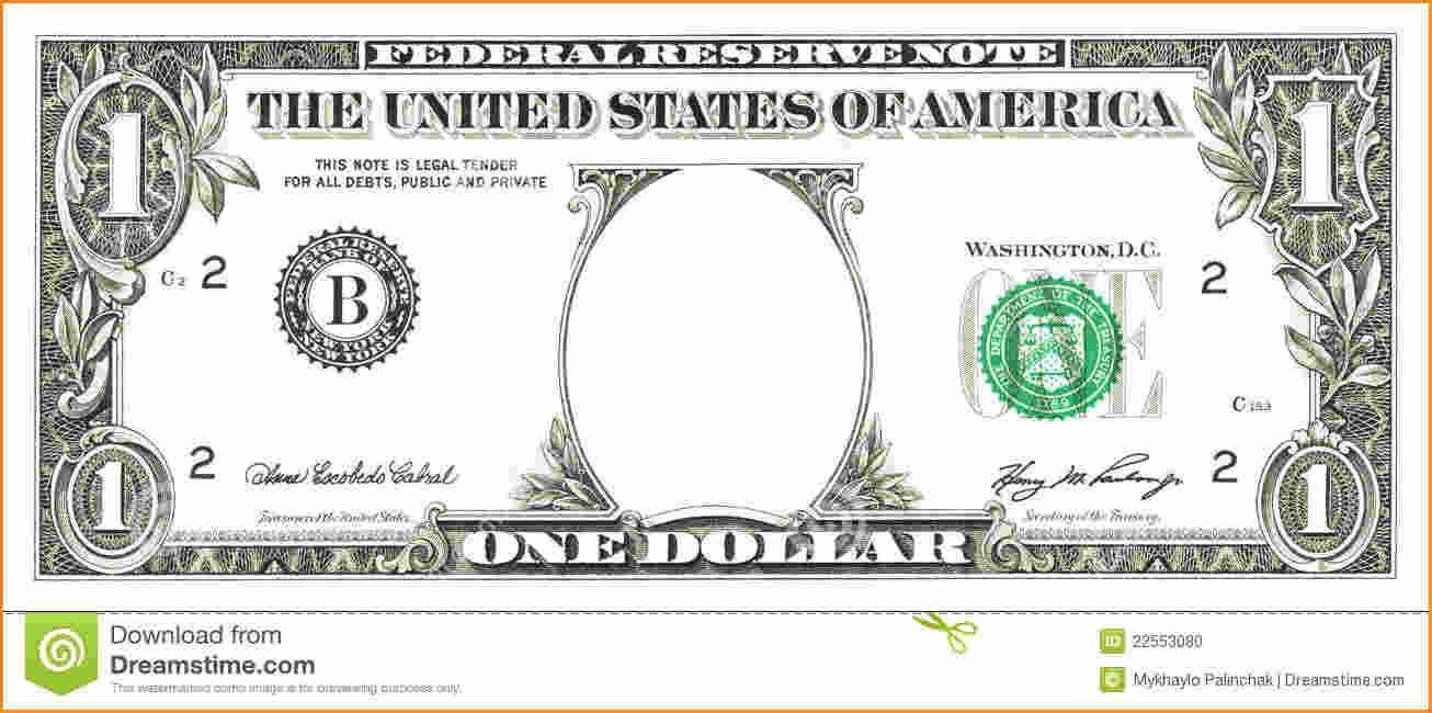 Dollar Bill Template Clipart.