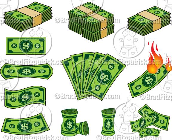 Cartoon dollar bill clipart 2 » Clipart Station.