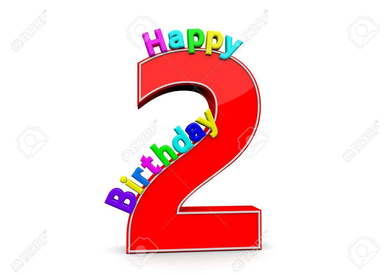 The big red number 2 with Happy Birthday » Clipart Station.