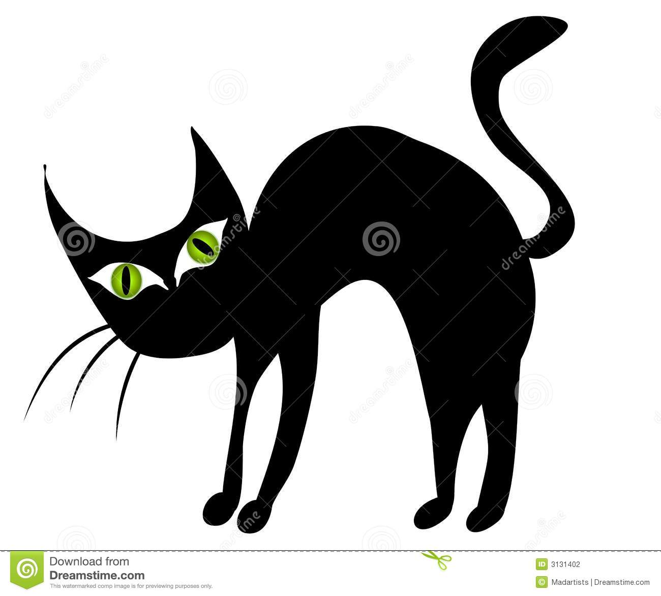 Isolated black cat clip art 2 illustration megapixl jpg.