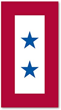 Blue Star Mother\'s Service Flag Magnet 2 Stars.