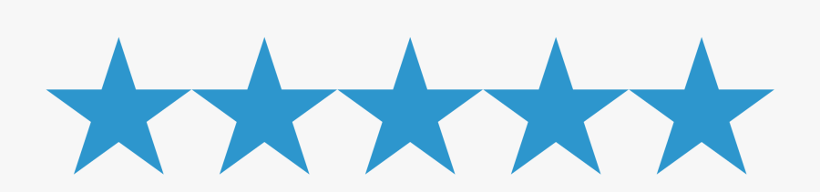 Clipart Blue Stars In A Row.