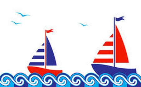Two Boats Clip Art.