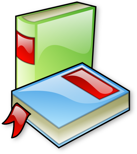 Two Books Clipart.
