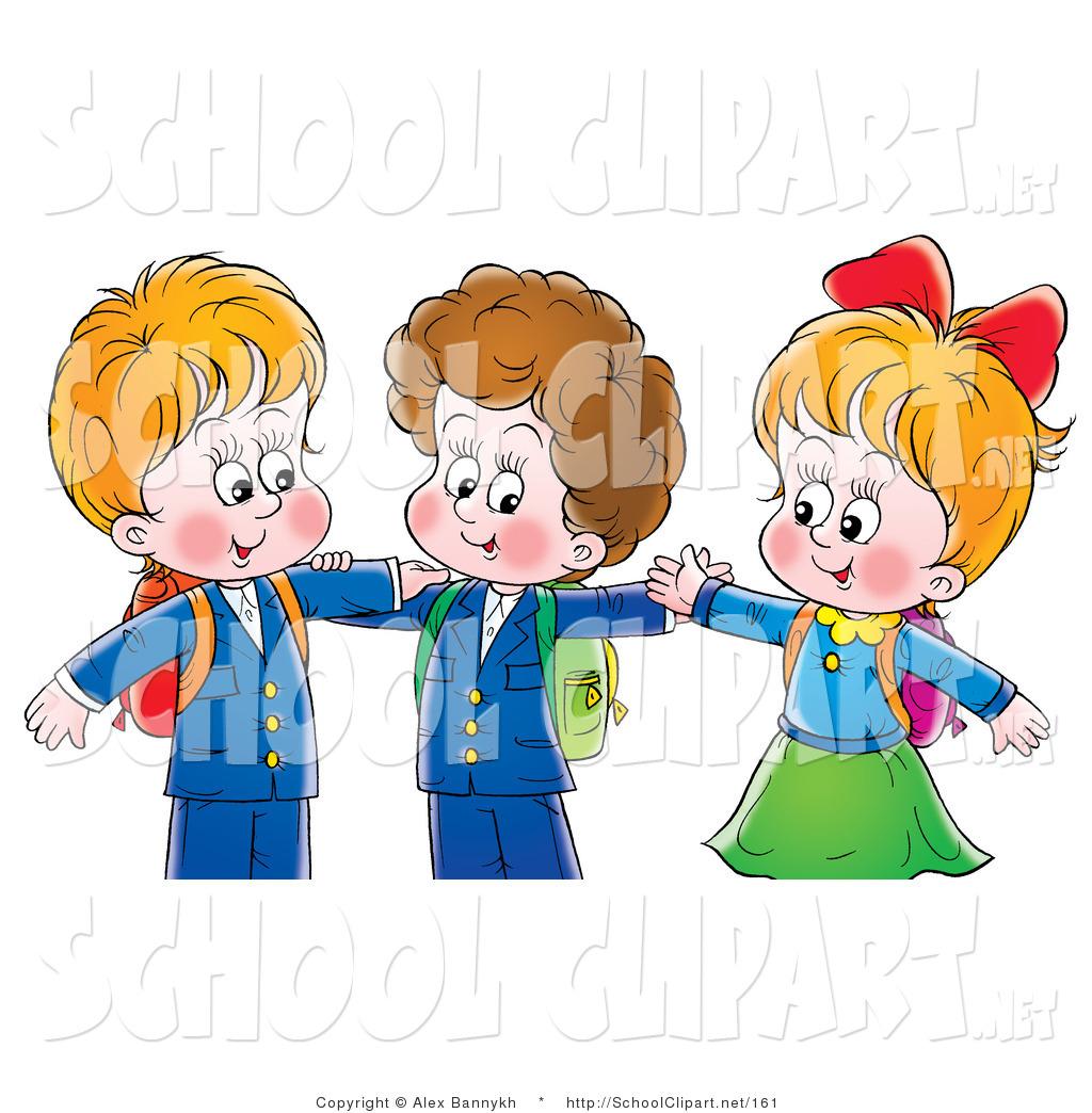 2 Boys 1 Girl Clipart.
