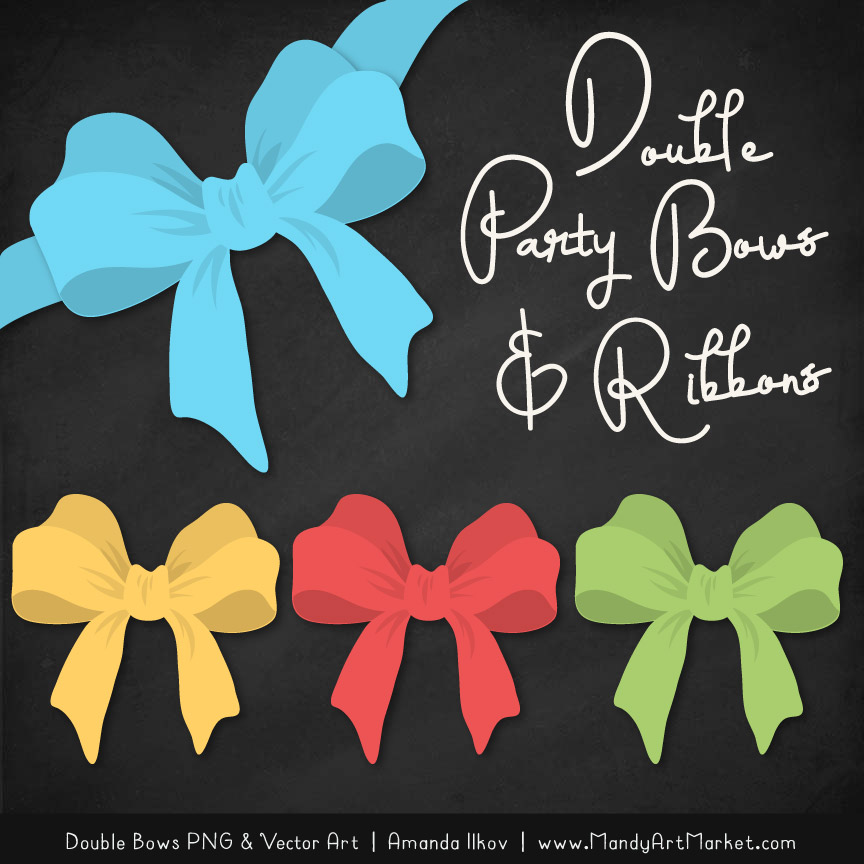 Free Fresh Boy Party Bow Clipart 2.