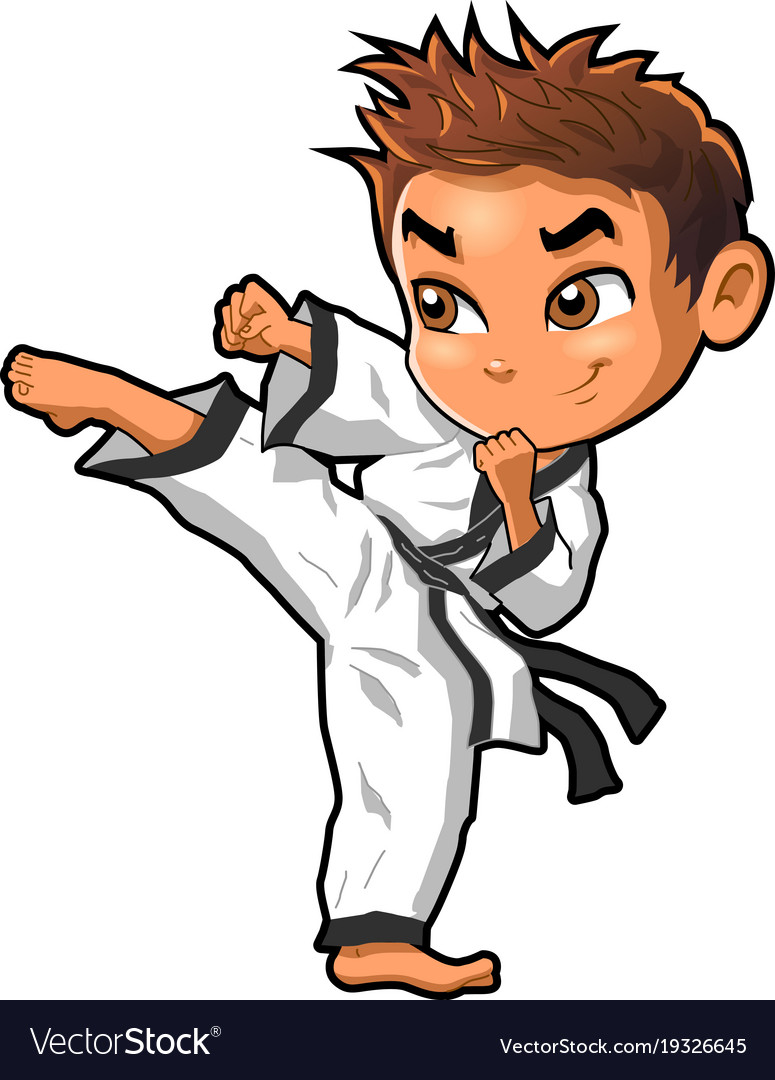 Karate martial arts tae kwon do dojo clipart vector image.