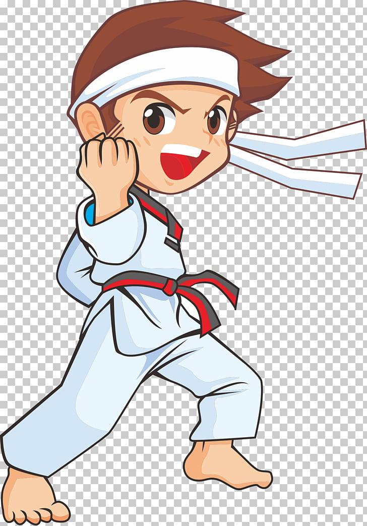 Taekwondo: techniques Drawing Karate Sport, child, boy in.