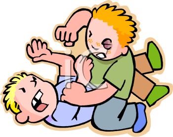 Clipart Kids Fighting.