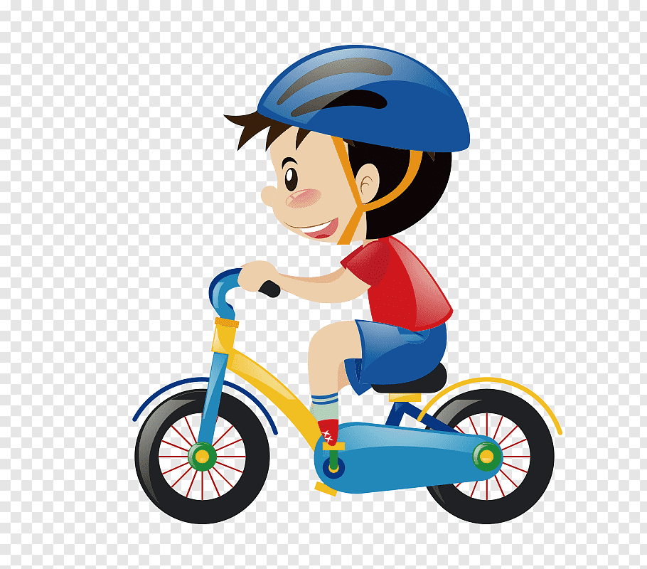 Boy riding a bicycle, Bicycle Cartoon Cycling graphy, Cute.