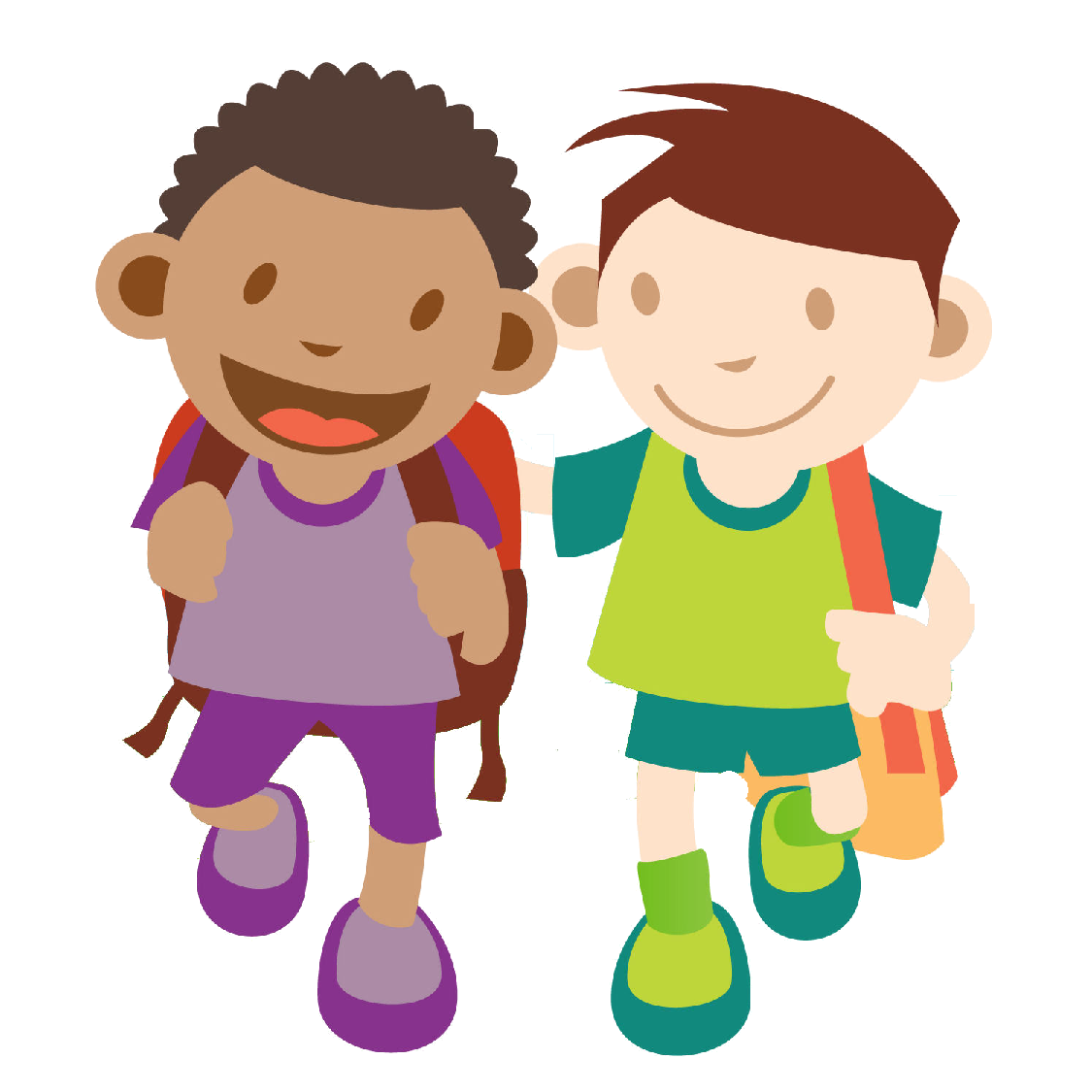 Free Two Cartoon Boys, Download Free Clip Art, Free Clip Art.