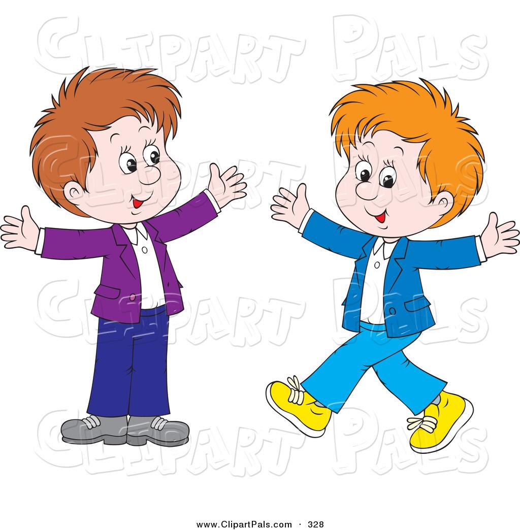 2 Boys Clipart.