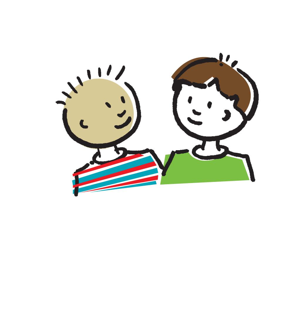 2 Children Talking Clipart.