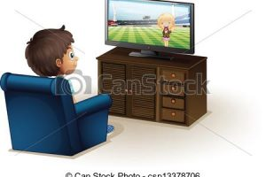 Boy watching tv clipart 2 » Clipart Station.