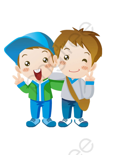 Happy Two Brothers, Close, Greet, Material PNG Transparent Image and.