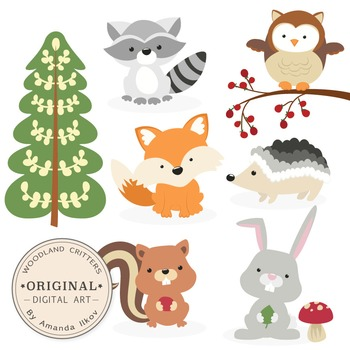 Premium Woodland Animals Clip Art & Vectors.