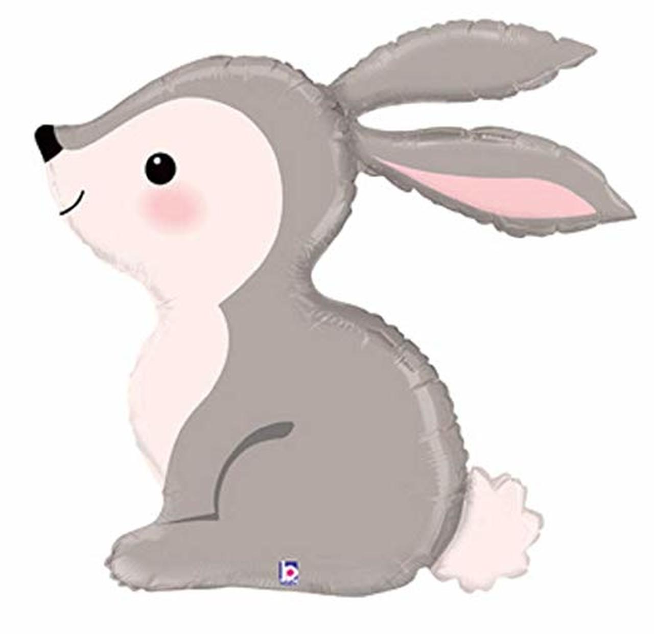 [Animal] Sweet Woodland Rabbit Bunny Foil Balloon (36inch).